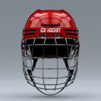 ice hockey helmet metal 3d model
