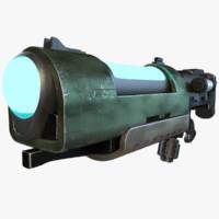3D plasma rifle model