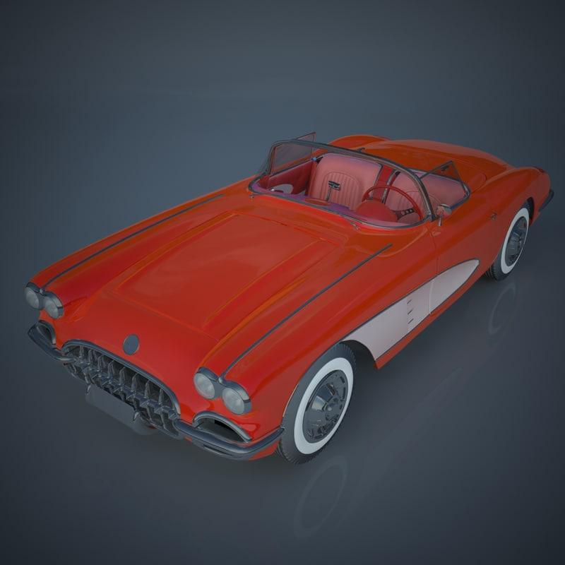 3d model chevrolet corvette c1