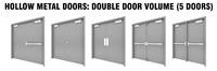 hollow metal double doors 3D model