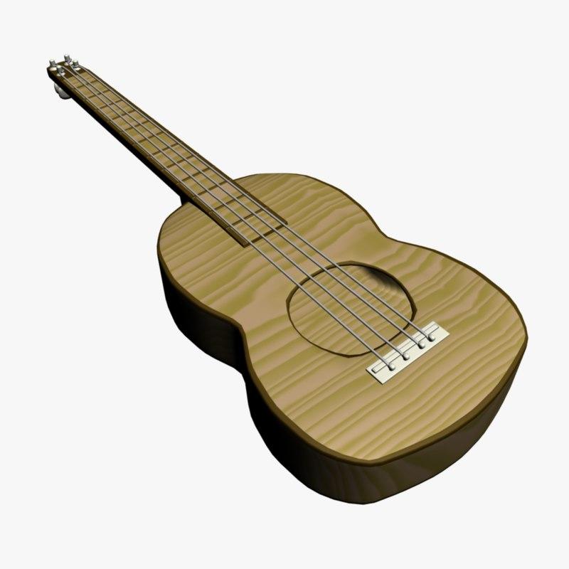3d model ucklele guitar