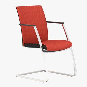 3d model realistic comfort chair