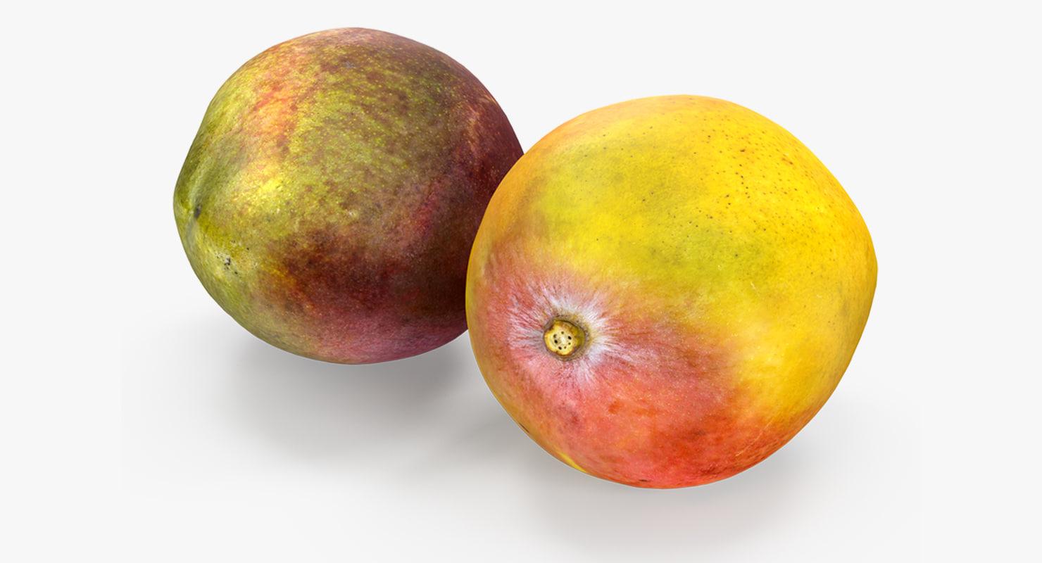 mango fruits set 3D model