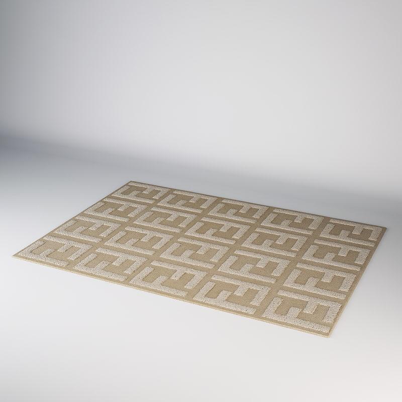 3d 3ds fendi carpet