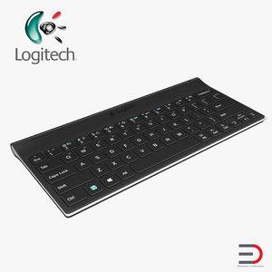 3D logitech tablet keyboard