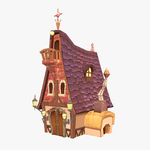 3d hand painted house
