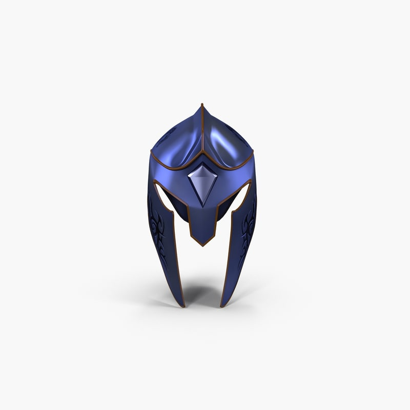 3d model knight helmet