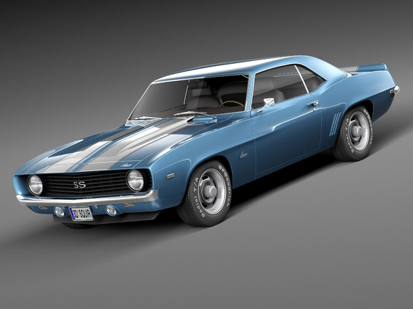 chevrolet camaro ss 1969 3d model
