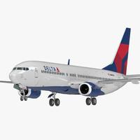 boeing 737-800 delta air lines 3D model