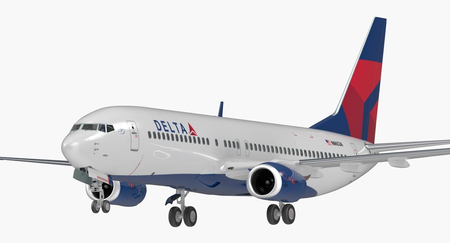 Boeing 737 800 Delta Air Lines Manipuliert
