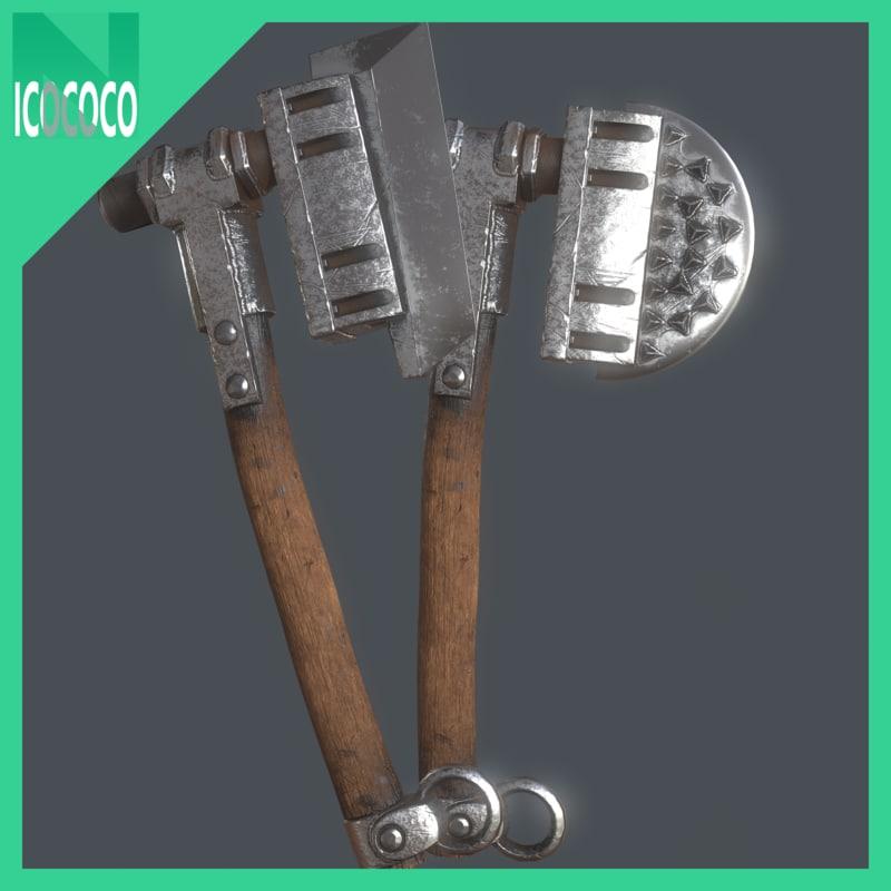 heavy axe set model