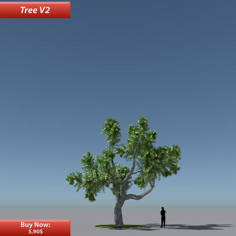 tree oak v2 obj