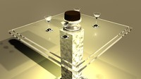 elegant table glass 3d model