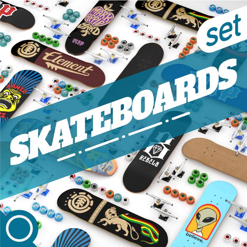 skateboard set max
