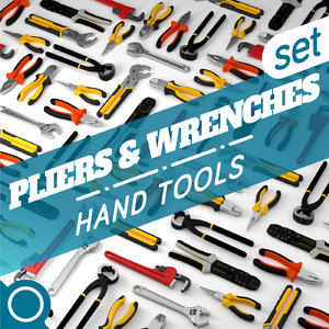 pliers wrenches 3d model