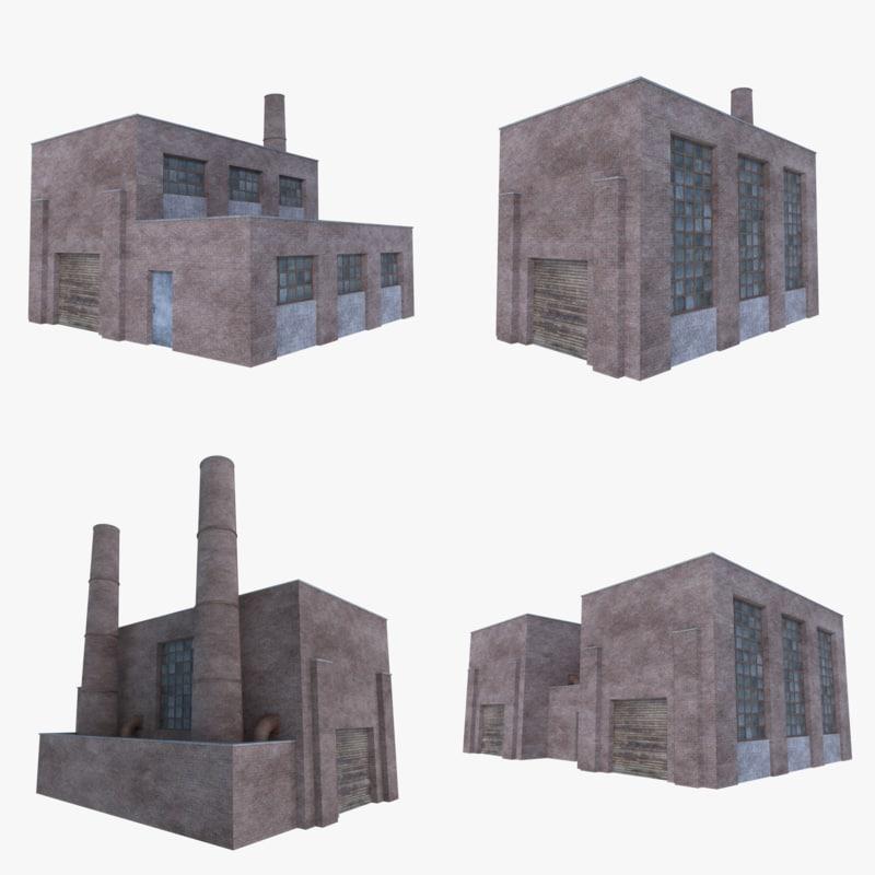 old brick factories 1 3D