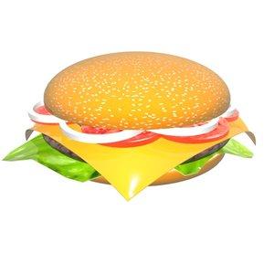 cheeseburger spinning model