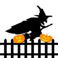Witch above fence preloader