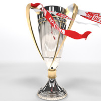 footballs league trophy 3D