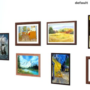 3d model paintings pictures