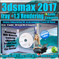 Iray + Upgrade 1.3 in 3ds max 2017 Guida Completa, Versione 3 mesi Subscription 1 Computer