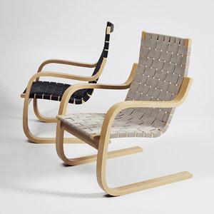 armchair 406 3d model