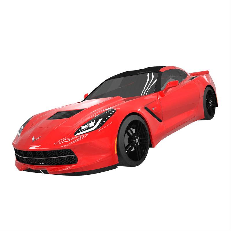 3d sport coupe model