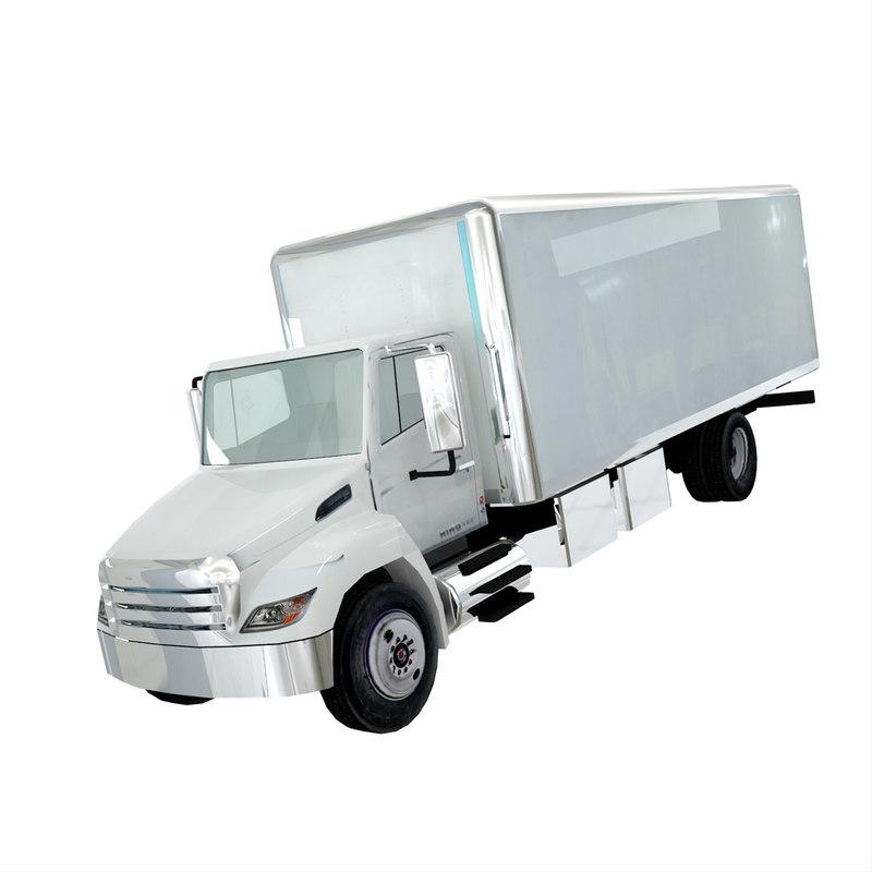 box truck polygonal 3ds