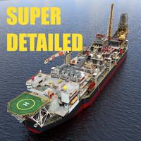 HIGH DETAILED FPSO Floating Production Storage Offloading