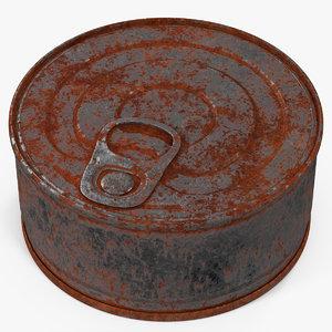 3d tin rusty 3