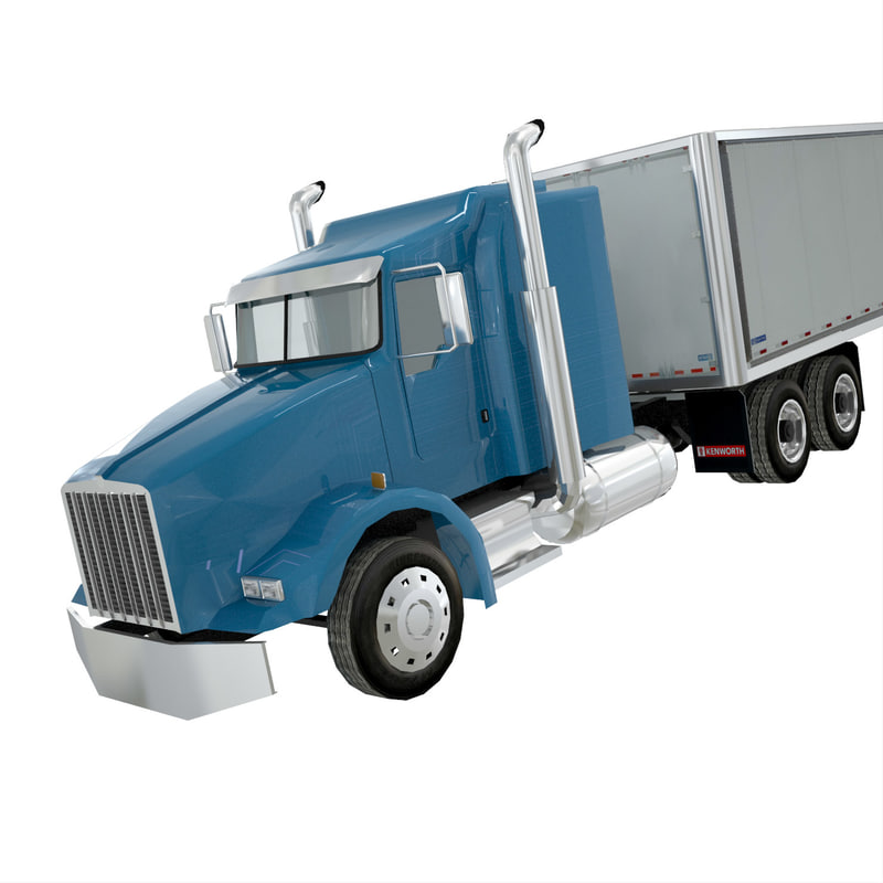 3d american truck t800 trailer