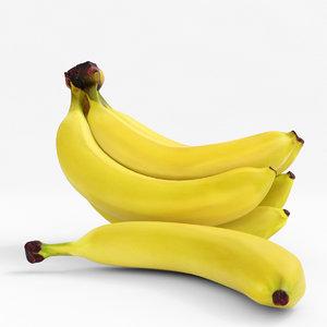 banana realistic 3D model