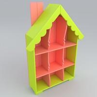 3D shelf toys model
