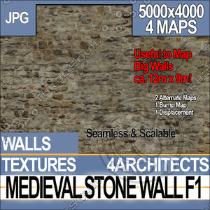 Medieval Stone Wall F 1