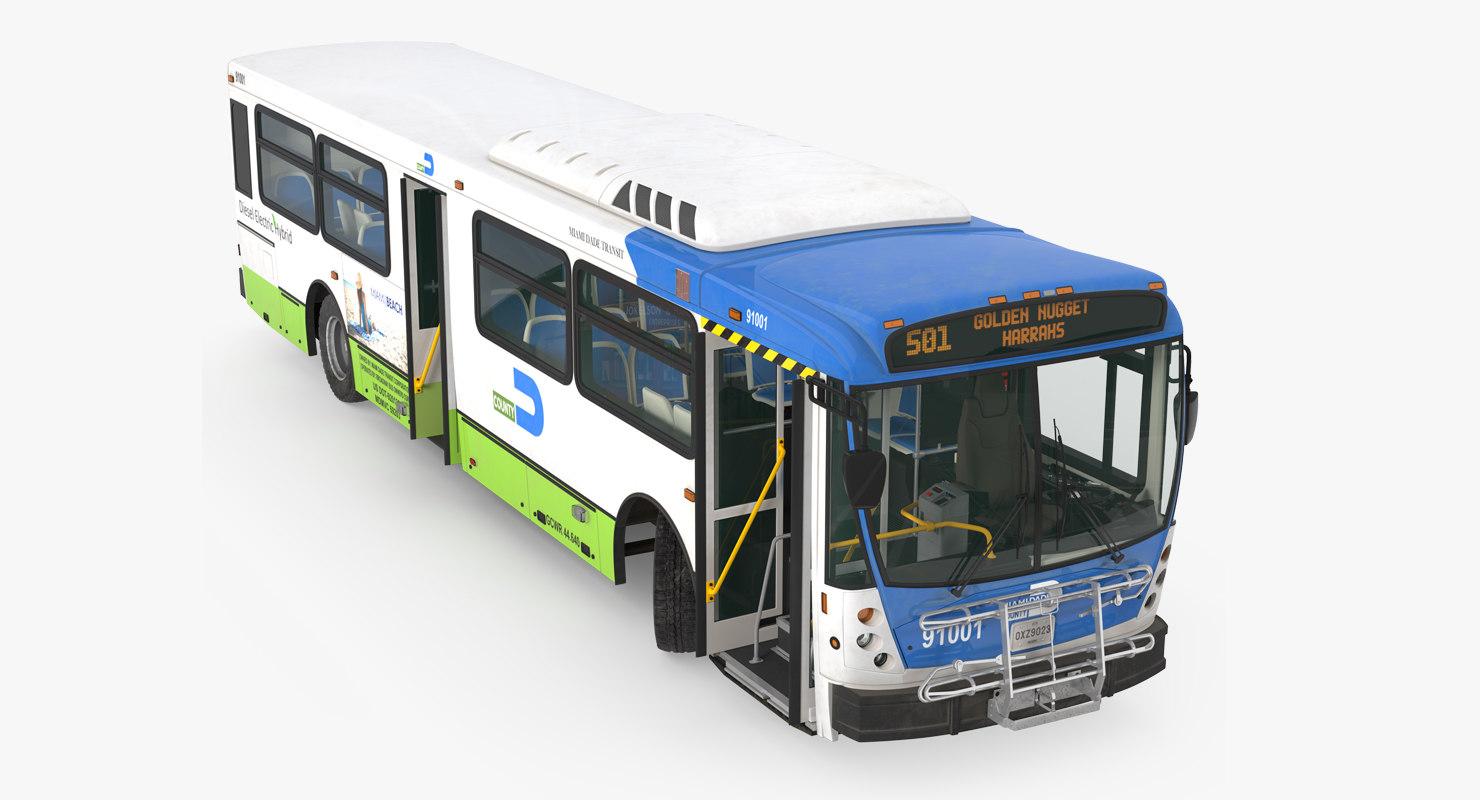 3D bus nabi 416 miami