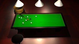 obj billiard table - cup