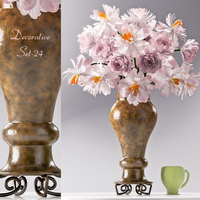 decorative set 24 3D model