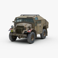 british fgt gun tractor 3d model