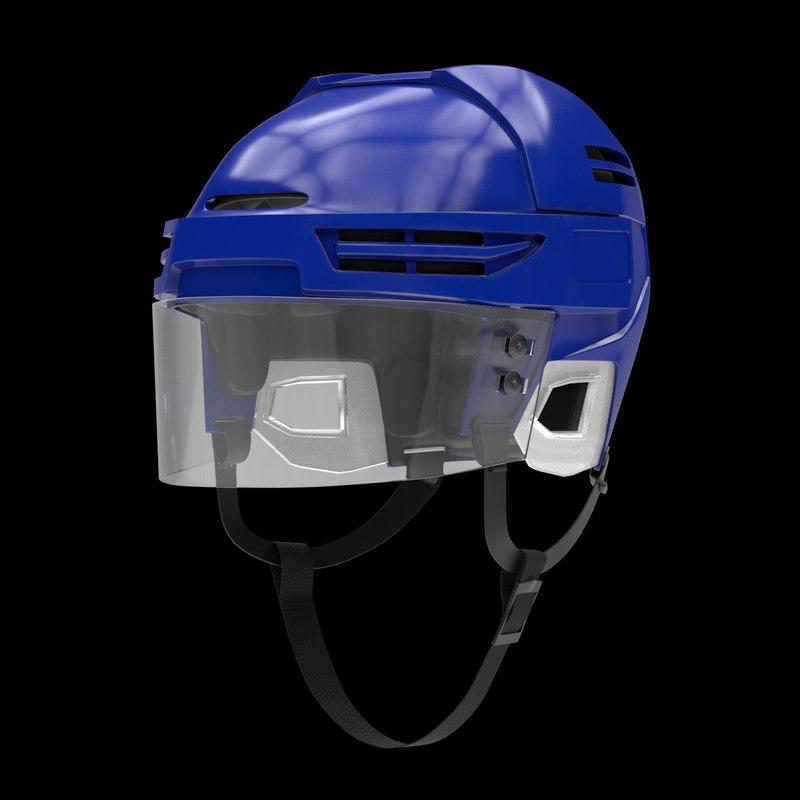 ice hockey helmet metallic obj