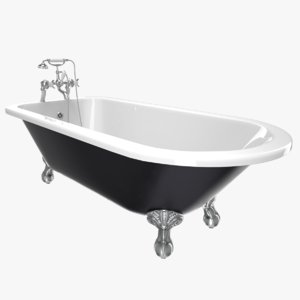 3d vintage bathtub essex iron