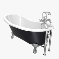 Vintage Bathtub Kent Black Iron