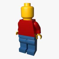 lego minifig 3d obj