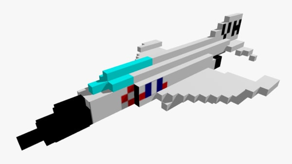 3d pixelated f4 jet -