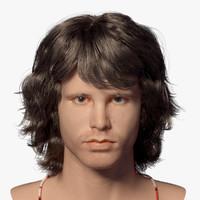 3d jim morrison head model