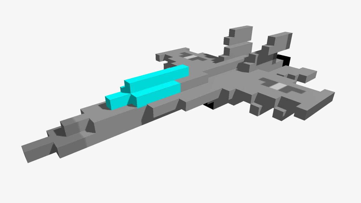 pixelated f18 jet - 3d model