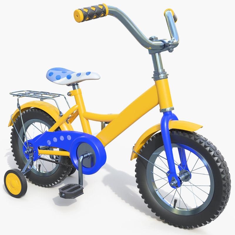 child bike 3d max