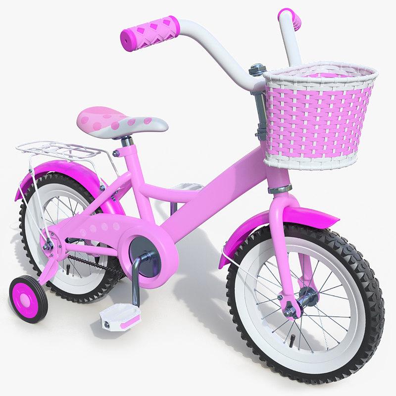 3d obj child bike