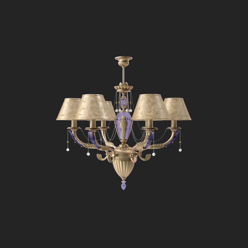 chandelier kutek katania 3d model