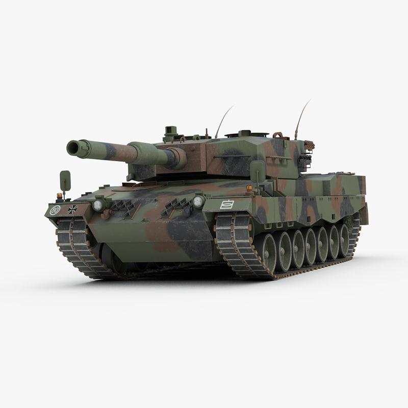 3ds max leopard 2 german tank