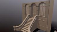highpoly entrance 3d model